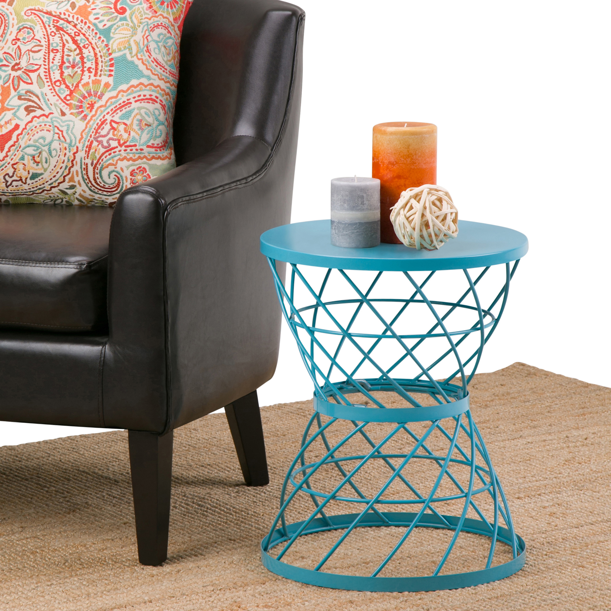 Simpli Home Rodney Metal Accent Table