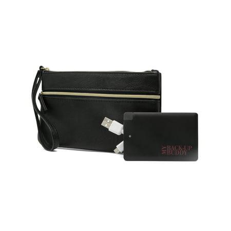 MUNDI Back Up Buddy Womens Wallet Wristlet RFID Blocking With Portable External Phone (Best Mundi Woman Wallets)