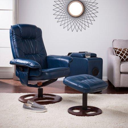 Surprising Southern Enterprises Lirrados Faux Leather Swivel Recliner Cjindustries Chair Design For Home Cjindustriesco