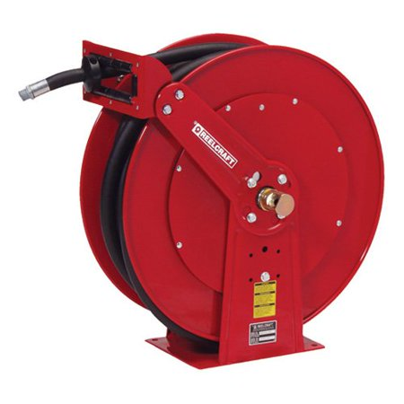 Reelcraft Dual Pedestal Oil 1 2 In  Hose Reel   75 Ft