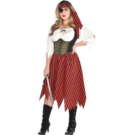Pirate Accessories For Womens (Beauty Pirate Halloween Costume for Women, Plus Size, Includes)