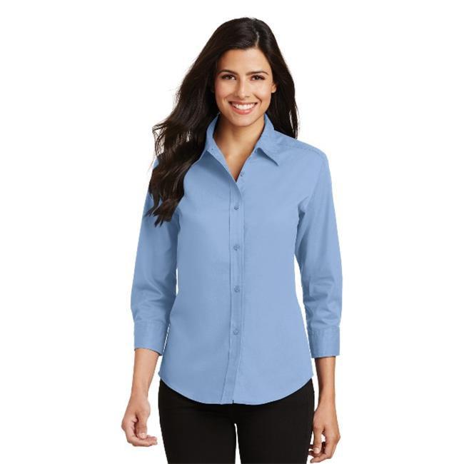 Port Authority® Ladies 3/4-Sleeve Easy Care Shirt. L612 Light Blue 4Xl - image 1 de 1