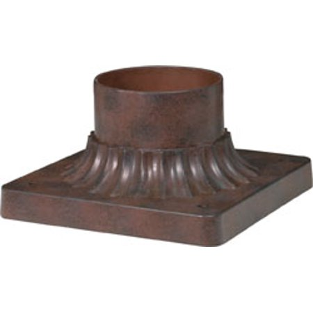 Replacement for 25/1203 ALUMINUM POST BASE OLD BRONZE FINISH 6 INCH SQUARE PIER MOUNT BASE Aluminum Posts Finish