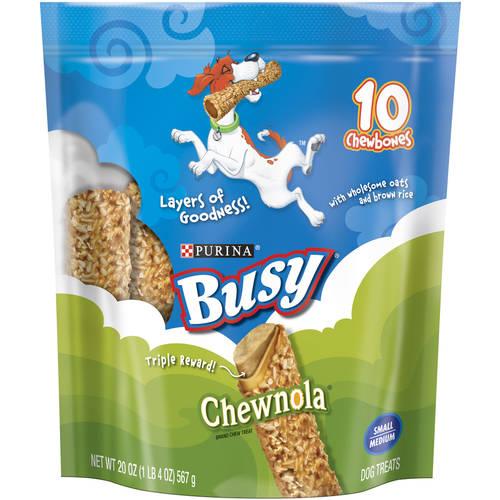 Purina Busy Chewnola Small Medium Dog Treats 10 ct Bag by Nestle Purina Petcare Company