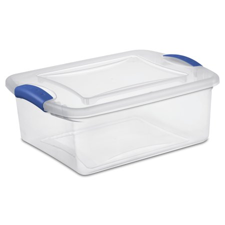 Sterilite 15 Quart Stadium Blue Latch Box, 2 Piece
