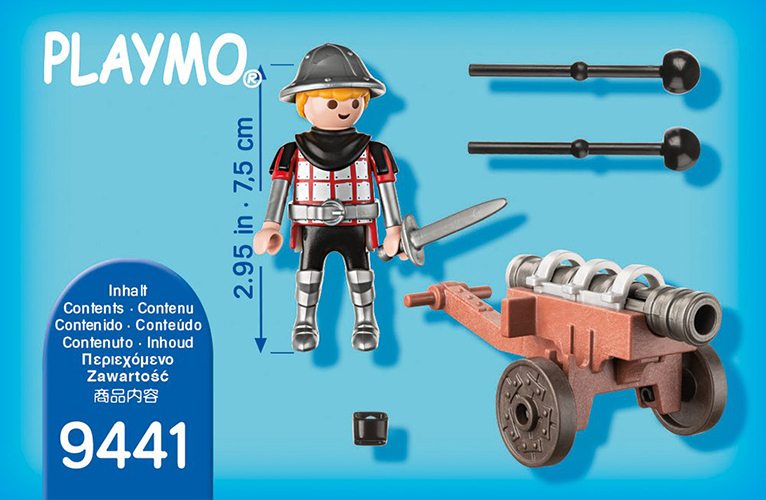 New Factory Sealed Playmobil Special Plus #9441 Knight with Cannon