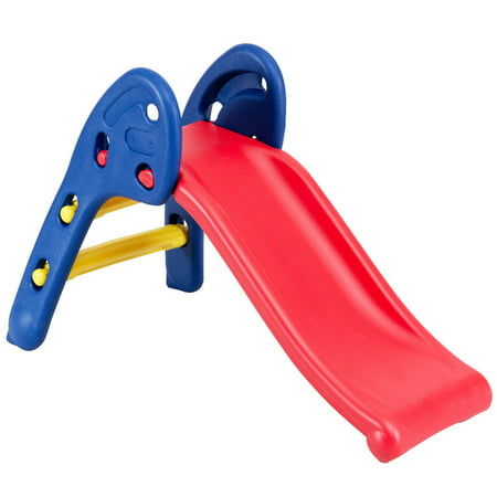 Gymax 2 Step Children Folding Slide Plastic Fun Toy Up-down For Kids Indoor & Outdoor