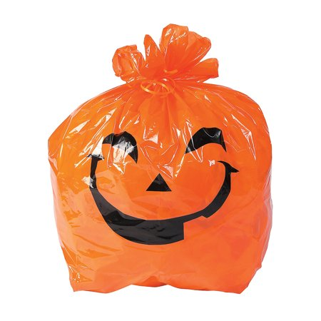 Fun Halloween Pumpkin Ideas (Fun Express - Halloween Pumpkin Lawn Bags for Halloween - Party Supplies - Bags - Plastic Bags - Halloween - 12)