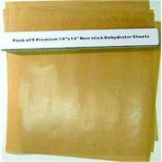 """Pack of 9 Premium 14"""" X 14"""" Non-stick Dehydrator Sheets- For Excalibur 2500, 3500, 2900 or 3900"""