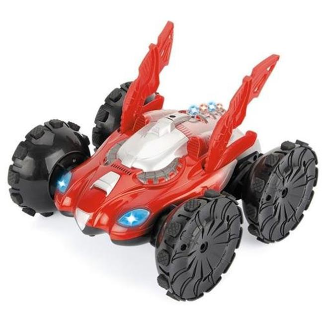 Microgear EC10280-Red 1-36 Rc Car Stunt Psycho Assault On Water And Land - Red