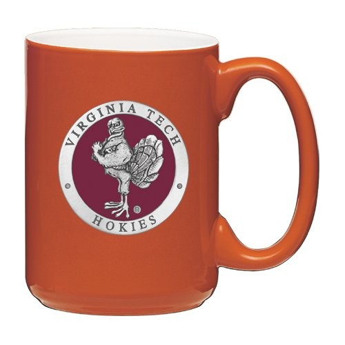Virginia Tech Hokies Mascot Logo Orange Coffee Mug Set