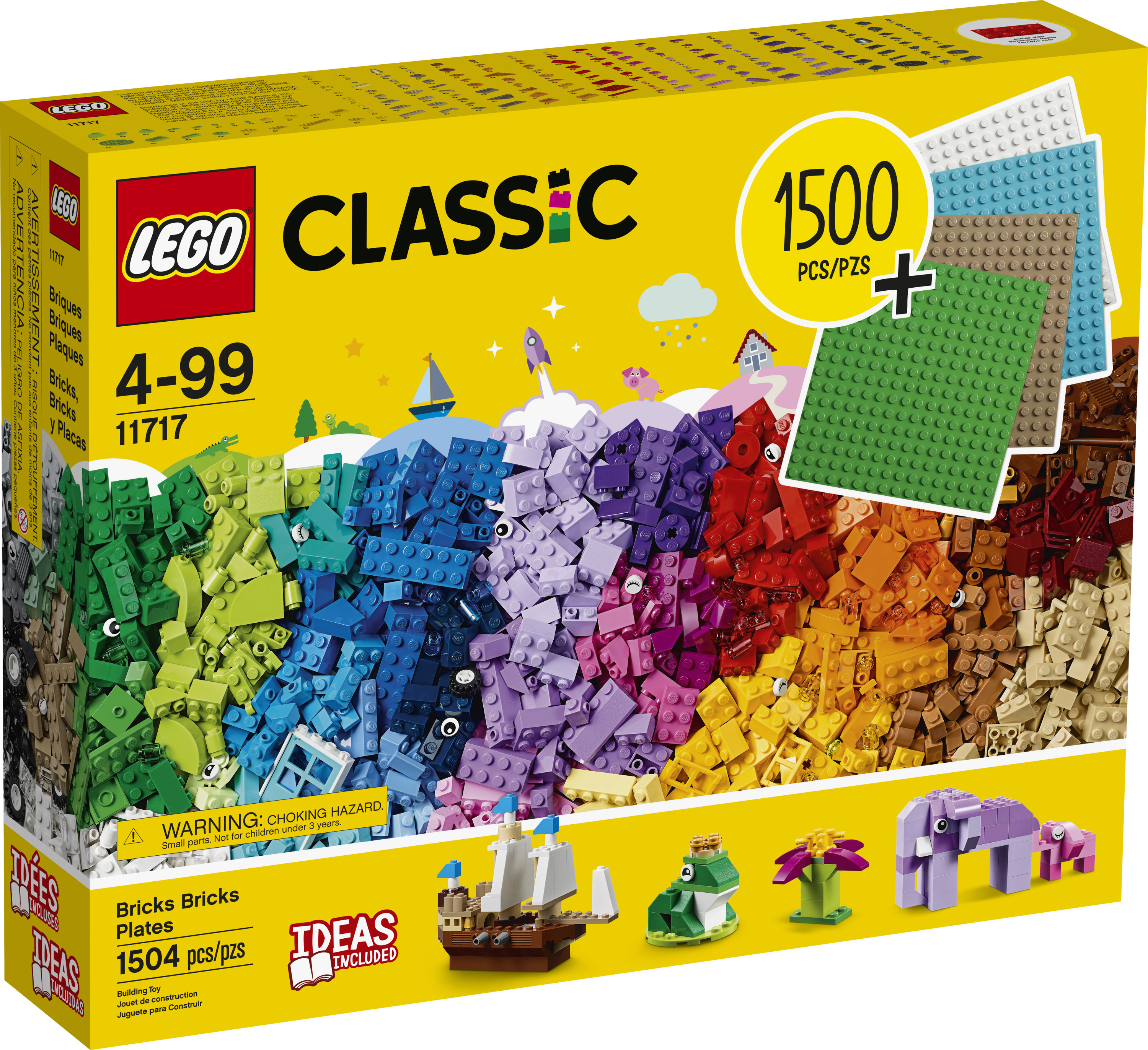 10717 FAST SHIPPING! LEGO Classic Bricks Bricks Bricks 1,500-piece Set