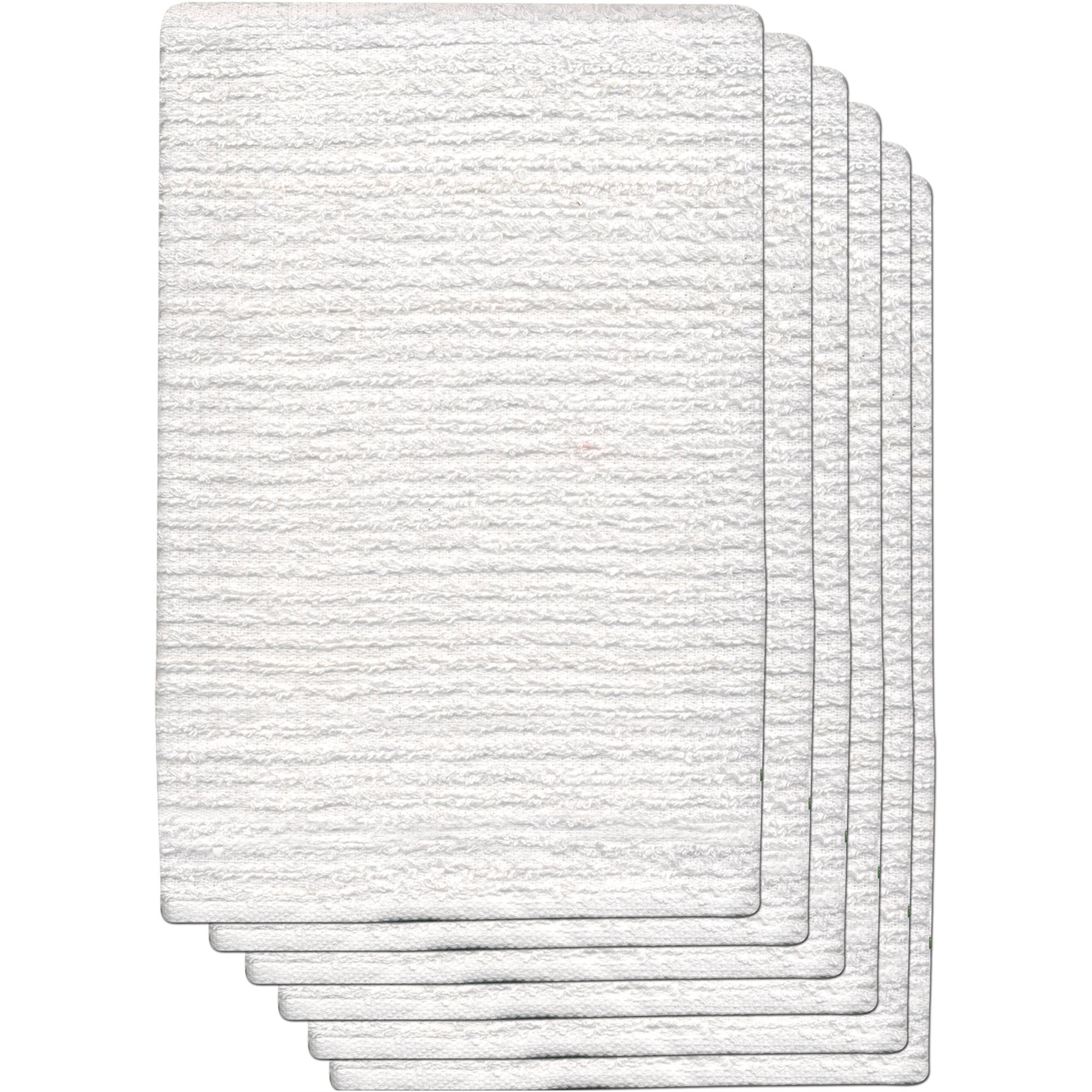 "GOURMET PRO 6-Pack Ribbed Barmop 16"" x 19"" 100 Percent Cotton Terry Barmop Utility Towel"