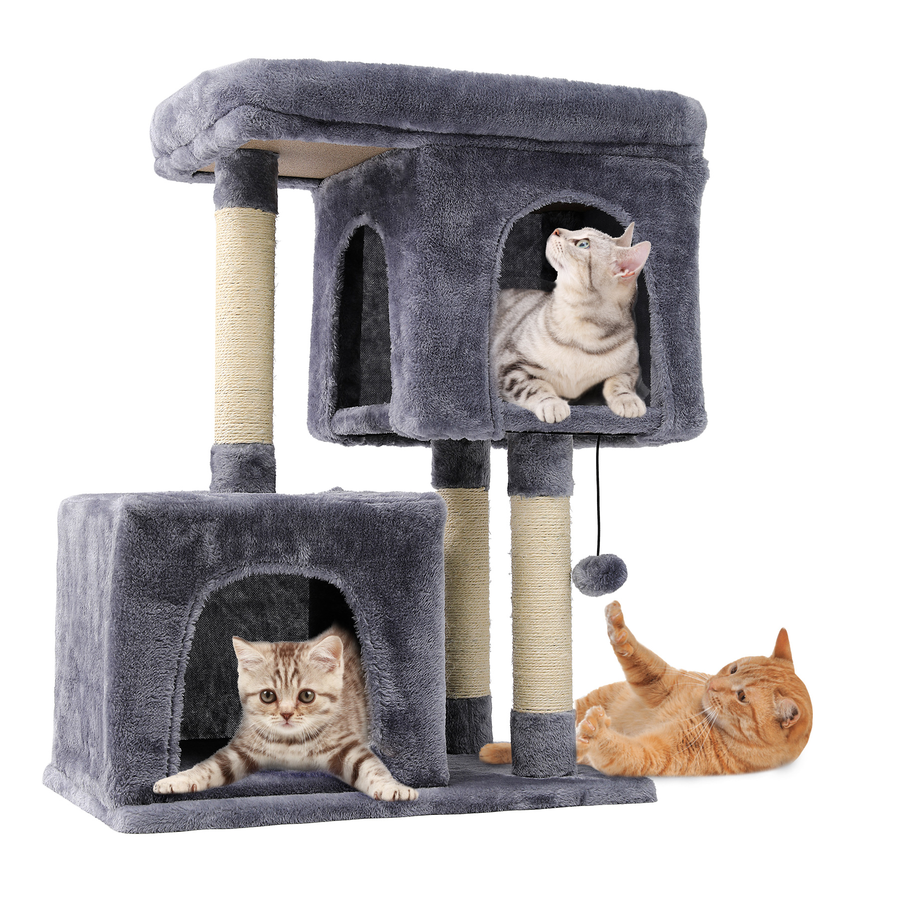 Preenex 3 Tiers 2 Big Condo House For Multiple Large Cats Indoor With Jungle Gym Cat Toy Walmart Canada