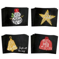 24 Pack Holiday Greeting Cards, 4 Assorted Merry Christmas Winter Designs Card Set with Envelopes, 24 Premium Notecards for Seasonal Wishes to Family & Friends, Great Value by Digibuddha VHA0022B