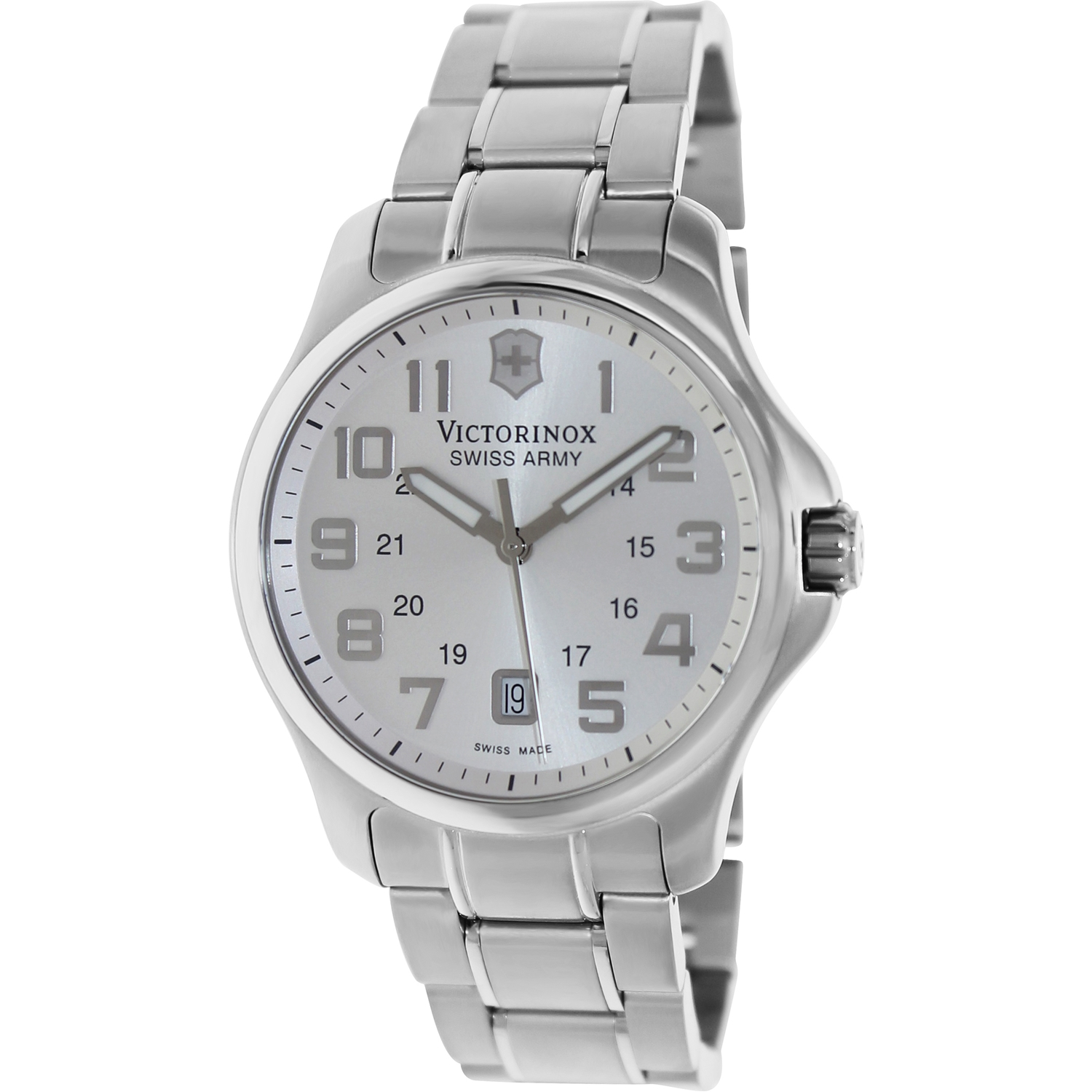 Victorinox Swiss Army 241359 Men's Officer's Silver Dial ...