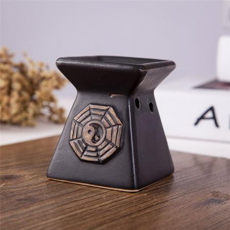 Feng Shui Zen Ceramic Essential Oil Burner Diffuser Tea Light Holder Great For Home Decoration & Aromatherapy OLBA102 ()