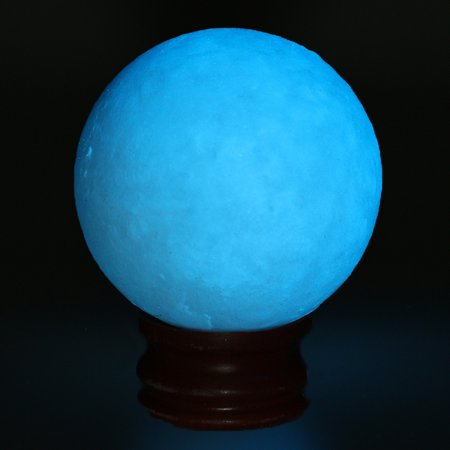 50mm Crystal Luminous Sphere Glow In The Dark Home Decor Stone Ball with Plastic Base Stand Christmas Gift