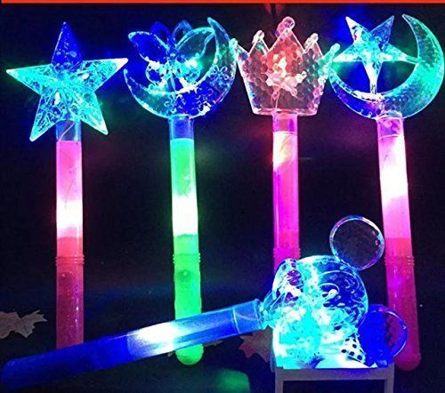 3 Pcs Fairy tale Princess Toy Costume LED Glow in the Dark Princess Star Wand