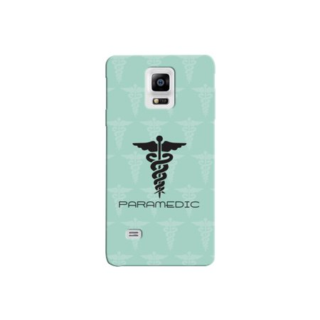 Paramedic Green Background Medical Wing Snake Symbol Picture Phone Case for  the Samsung Note 5 - Medical Pattern Cases