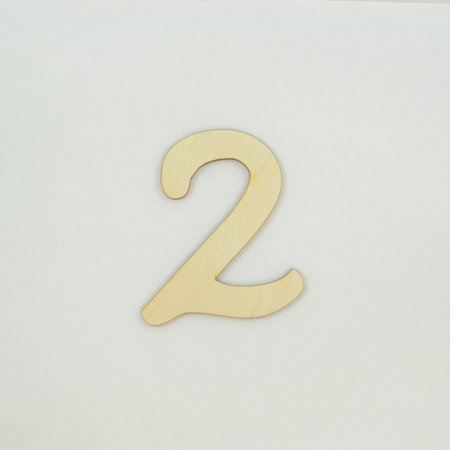 1 Pc, 12 Inch X 1/8 Inch Thick Walt Disney Numbers 2 For Kids Rooms & Childrens Craft Projects
