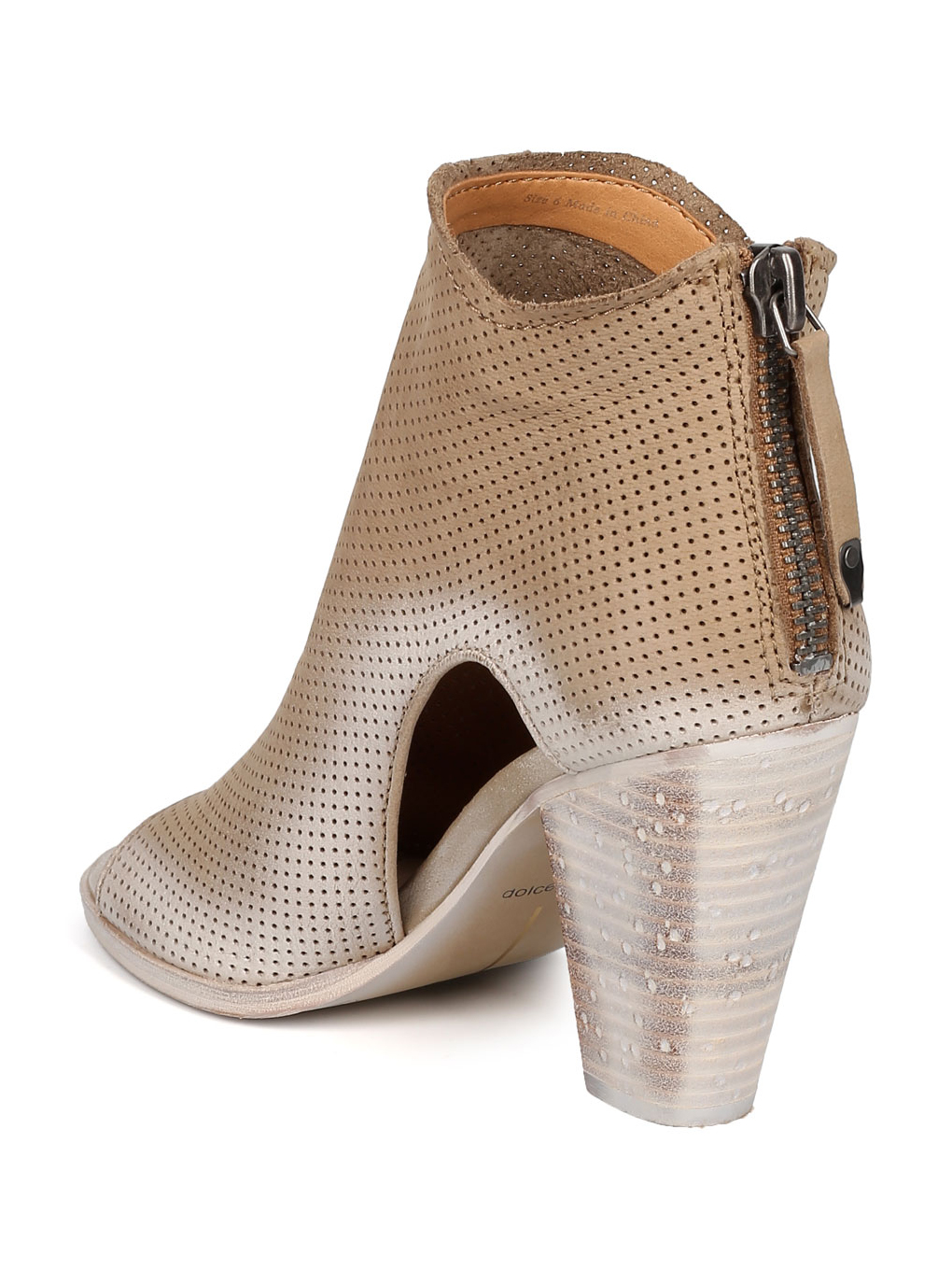 Women Nubuck Perforated Chunky Heel Bootie - Casual, Ankle Versatile, Dressy - Cutout Ankle Casual, Boot - Harem By Dolce Vita 7076e4