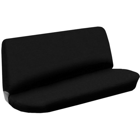 Bench Seat Cover Flat Solid Black 2pc Cloth For Toyota