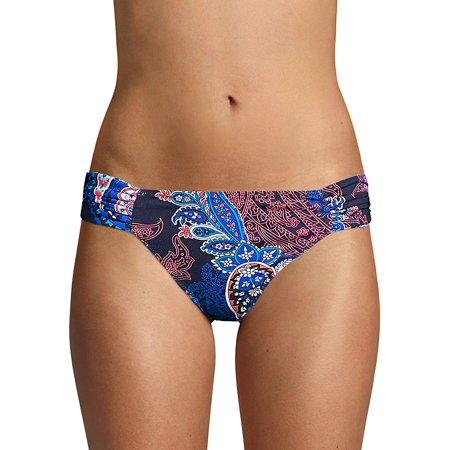 Paisley Leaves Reversible Shirred Bikini - Reef Reversible Bikini