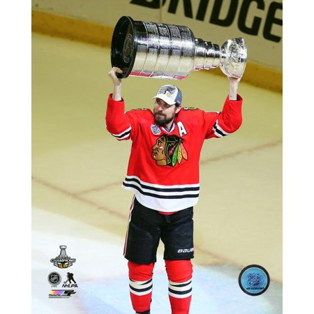 Patrick Sharp with the Stanley Cup Game 6 of the 2015 Stanley Cup Finals Photo Print (Patrick Sharp Halloween Flower)