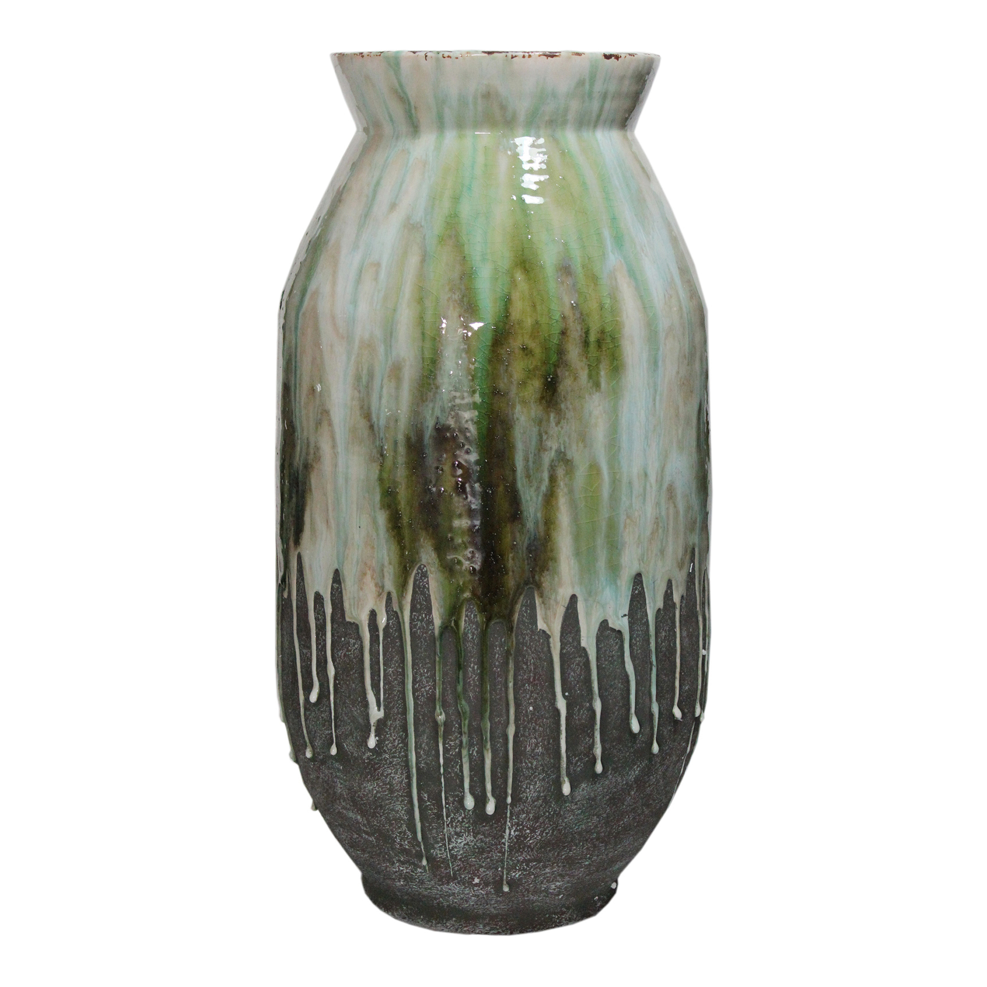 "Moes Home Collection JY-1002 Lindemann 22"" Tall Stone Vase with Partially Glazed"