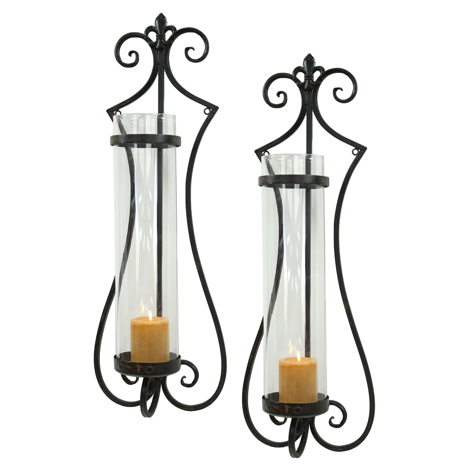 Aspire Home Accents Rhodes Candle Wall Sconce - Set of 2