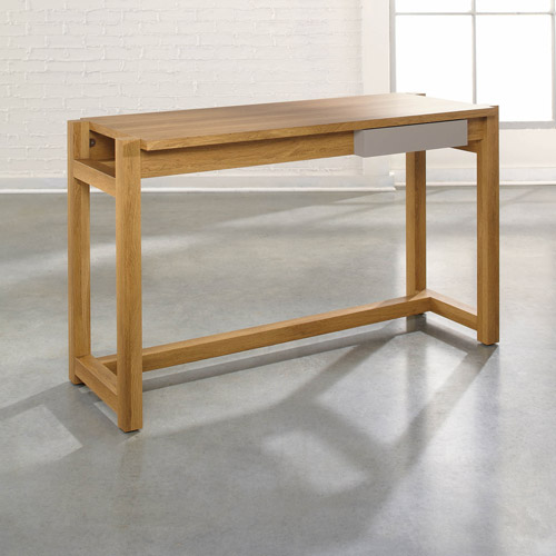 Sauder Soft Modern Desk, Pale Oak