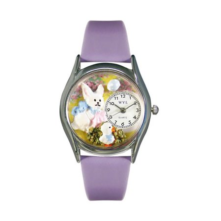 Whimsical Easter Bunny Yellow Leather And Silvertone Watch