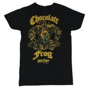 Harry Potter Mens T-Shirt  - Chocolate Frog Crest on Black (Small)