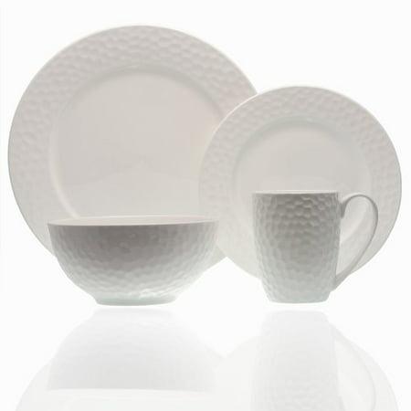 Red Vanilla Pebble Beach 16 Piece Bone China Dinnerware Set, Service for 4 for $<!---->