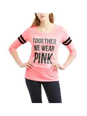 2a34338b LICENSE Juniors Tops & T-Shirts - Walmart.com
