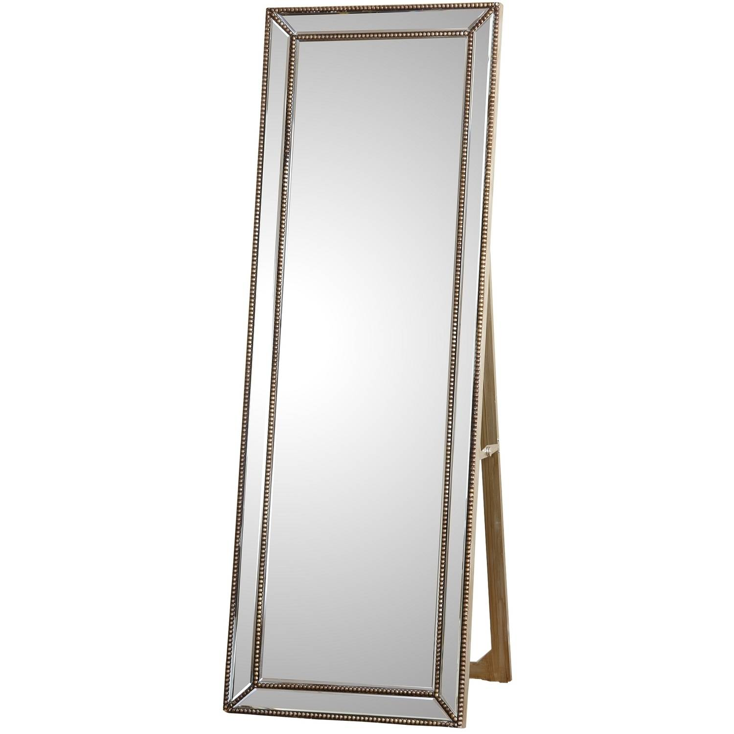 Devon and Claire Berkshire Nailhead-Trim Floor Mirror by