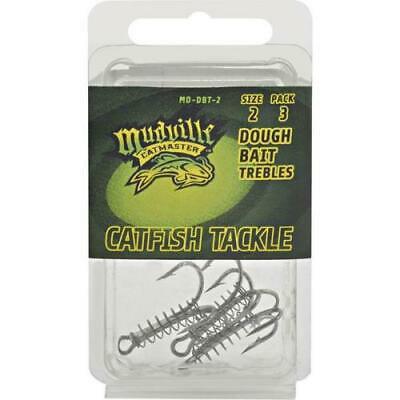 2PK MD-DBT-02 Mudville Catmaster Dough Bait Treble Hook