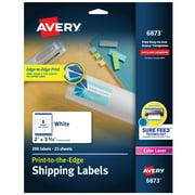 "Avery Shipping Labels, Sure Feed, 2"" x 3-3/4"", 200 Labels (6873)"