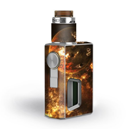 Skins Decals for GeekVape Athena Squonk Vape / Planets fire Saturn Rings ()