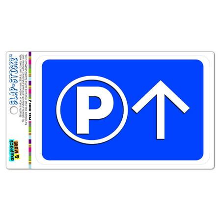 Parking Up Straight Forward Arrow SLAP-STICKZ(TM) Automotive Car Window Locker Bumper Sticker