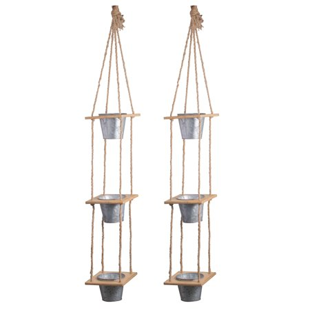 A B Home Shelburne 3 Tier Hanging Planters