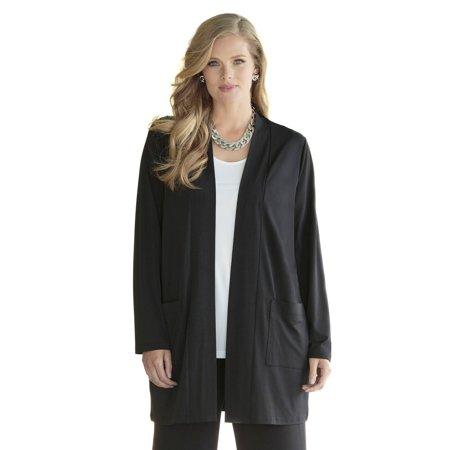 c33d6edba7f Ulla Popken Women s Plus Size Open Front Jersey jacket 702482 ...