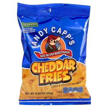 Andy Capp Cheddar Fries, 0.85 Ounce (Pack of 72)