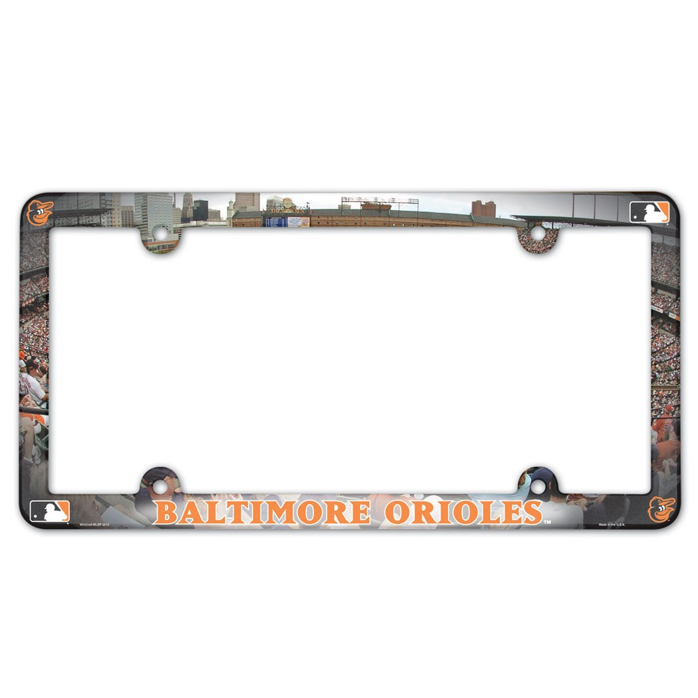 Baltimore Orioles Official MLB 12 inch x 6 inch  Plastic License Plate Frame by Wincraft