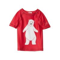 Azul Baby Boys Red Polard Bear Print UV Protection Rash Guard