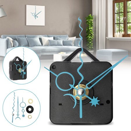 Blue Star Moon Hands Spindle Silence Repair Kits For Gift DIY Wall Quartz Clock Movement Mechanism ()
