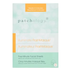 Patchology Illuminate Flashmasque Facial Sheets, 4 Ct