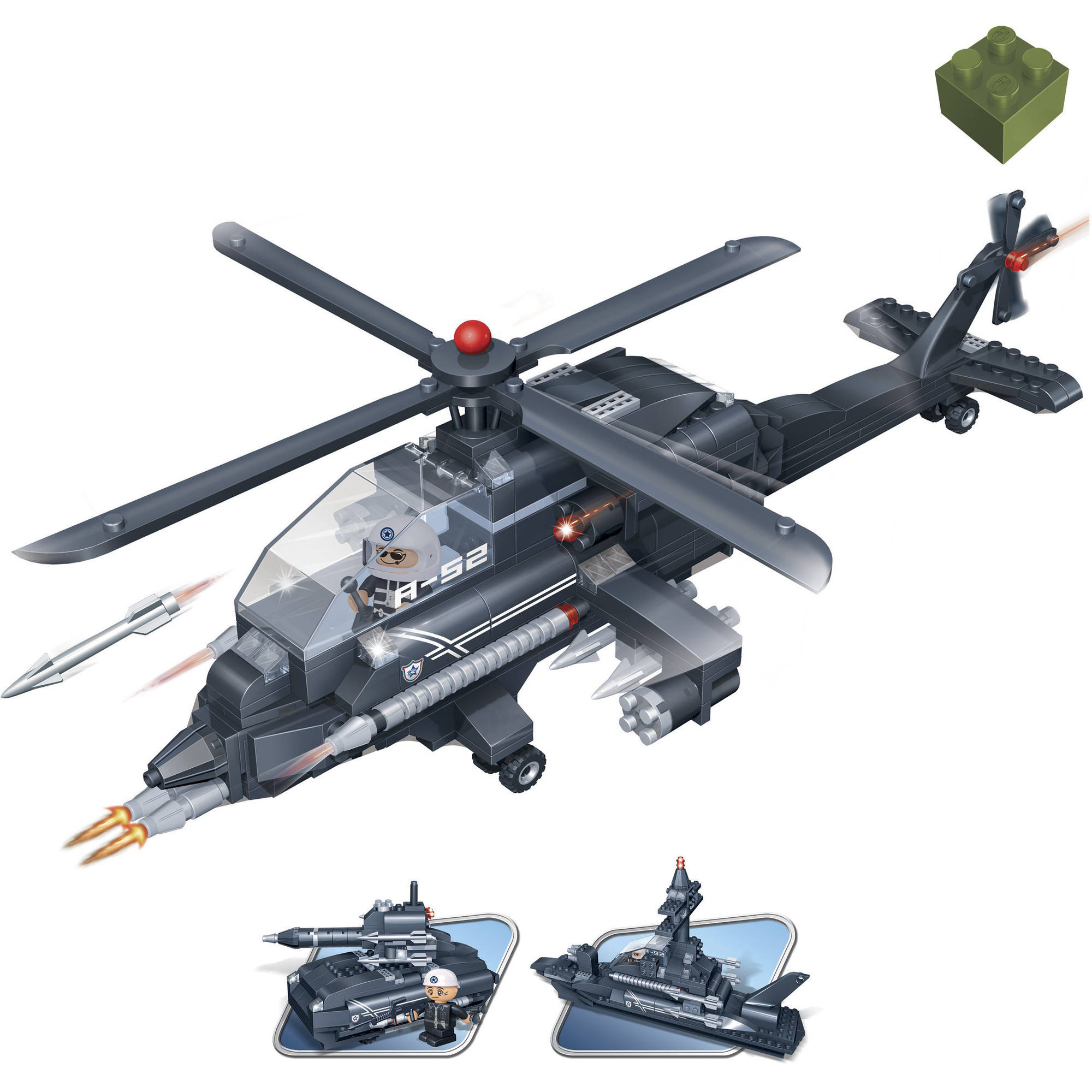 BanBao 3-in-1 Helicopter 295-Piece Building Set
