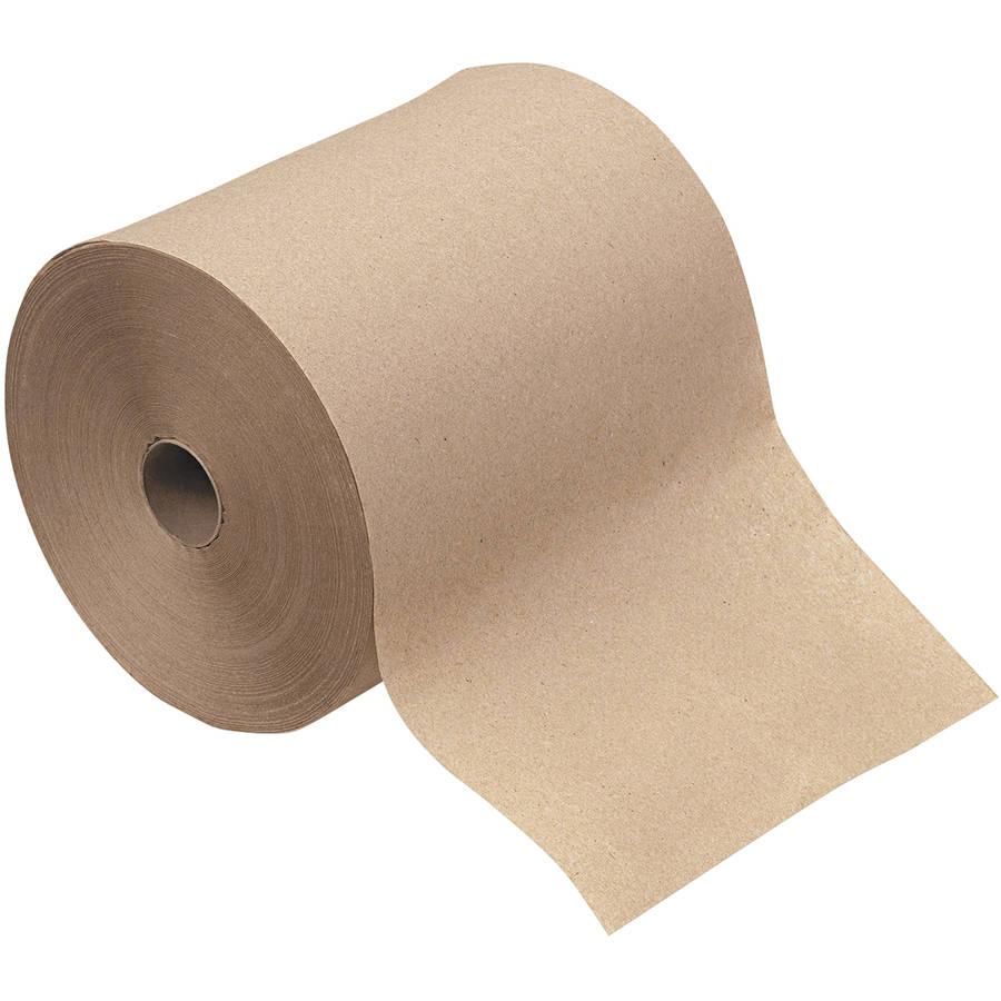 GEN 1-Ply Hardwound Towels, Brown, 12 count